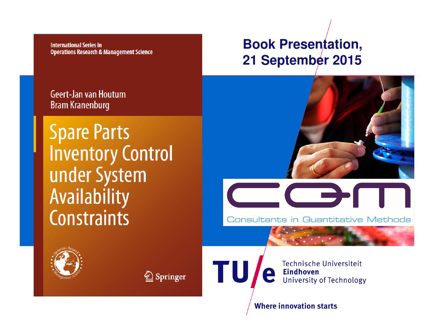 Bookpresentation Spare Parts Inventory Control under System