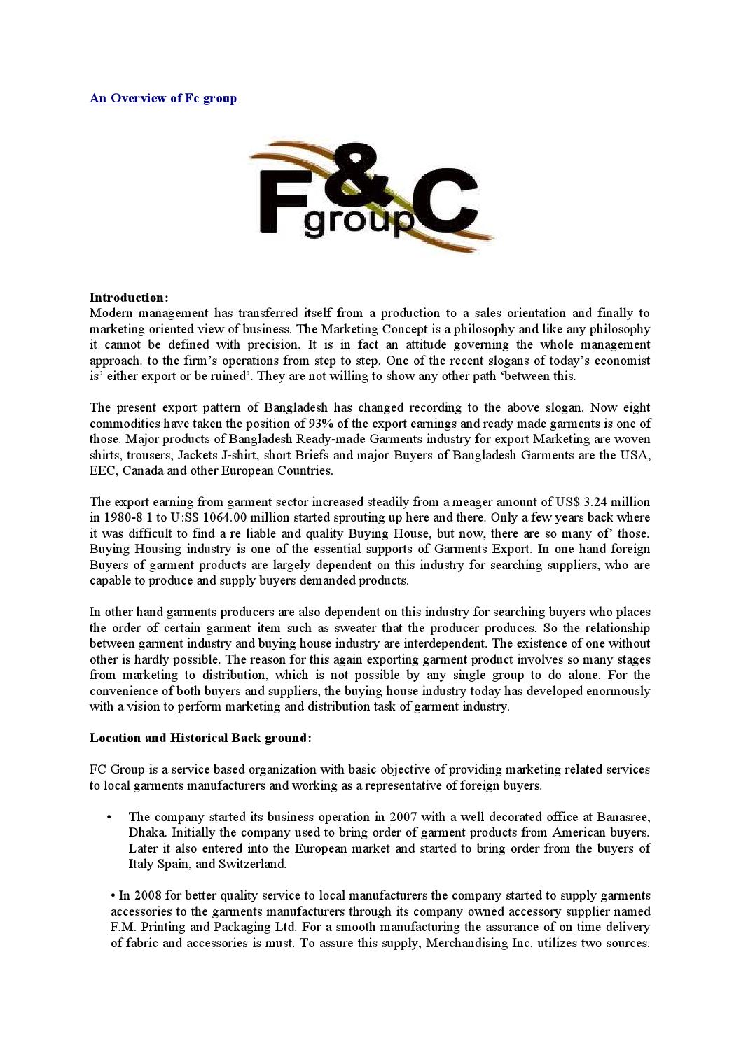 An overview of fc group by Md Papon - issuu