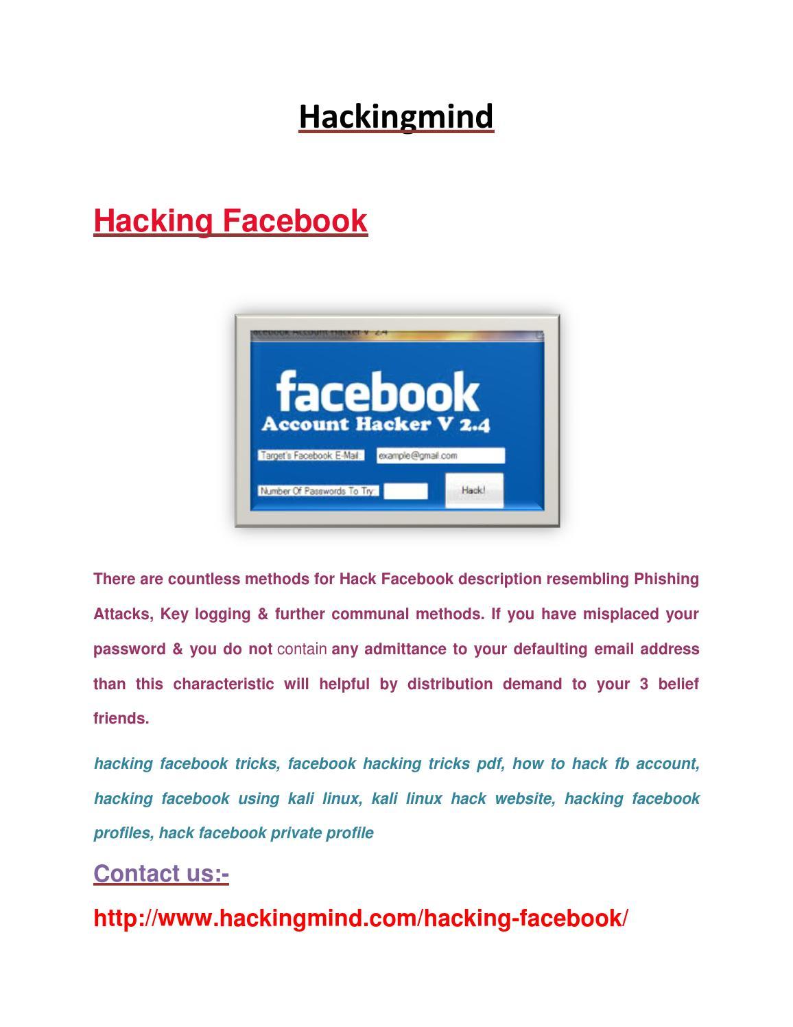 Hacking Facebook By Swati Sharma Issuu