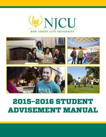 2015 16 Student Advisement Manual By New Jersey City University Issuu