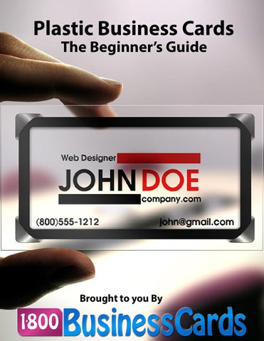 Plastic Business Cards The Beginners Guide By 1800businesscards