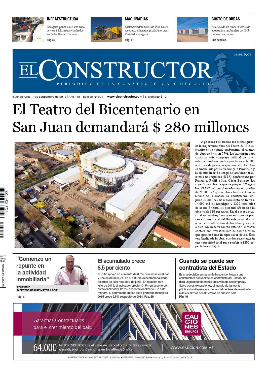 El Constructor 07/09/2015 - N° 5011 Año 115 by ELCO Editores - issuu