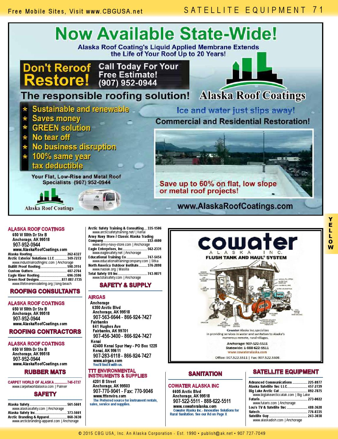 Alaska Native Directory Fall 2015 Yellow Pages Section by