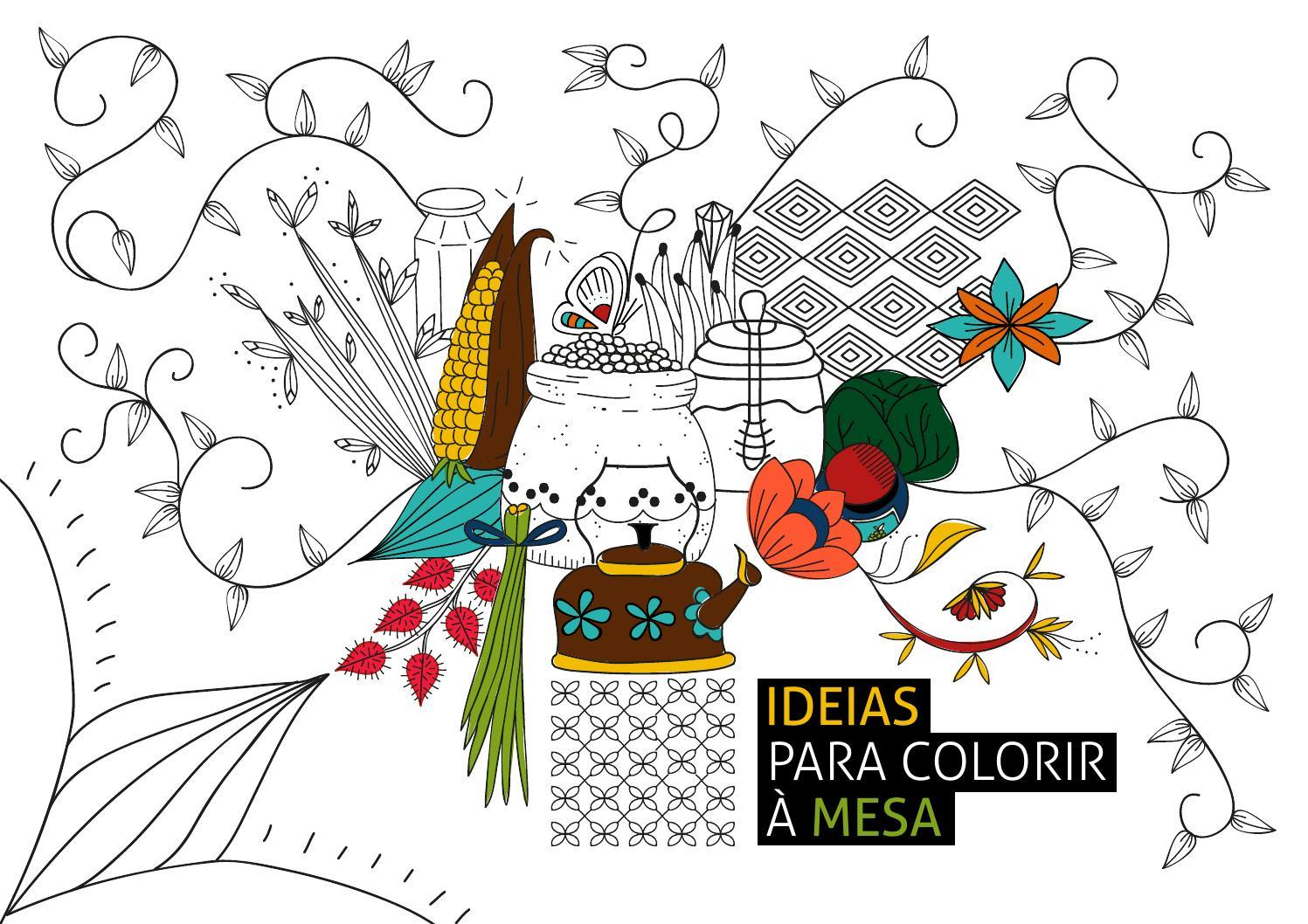 ideias para colorir à mesa by ideias na mesa issuu