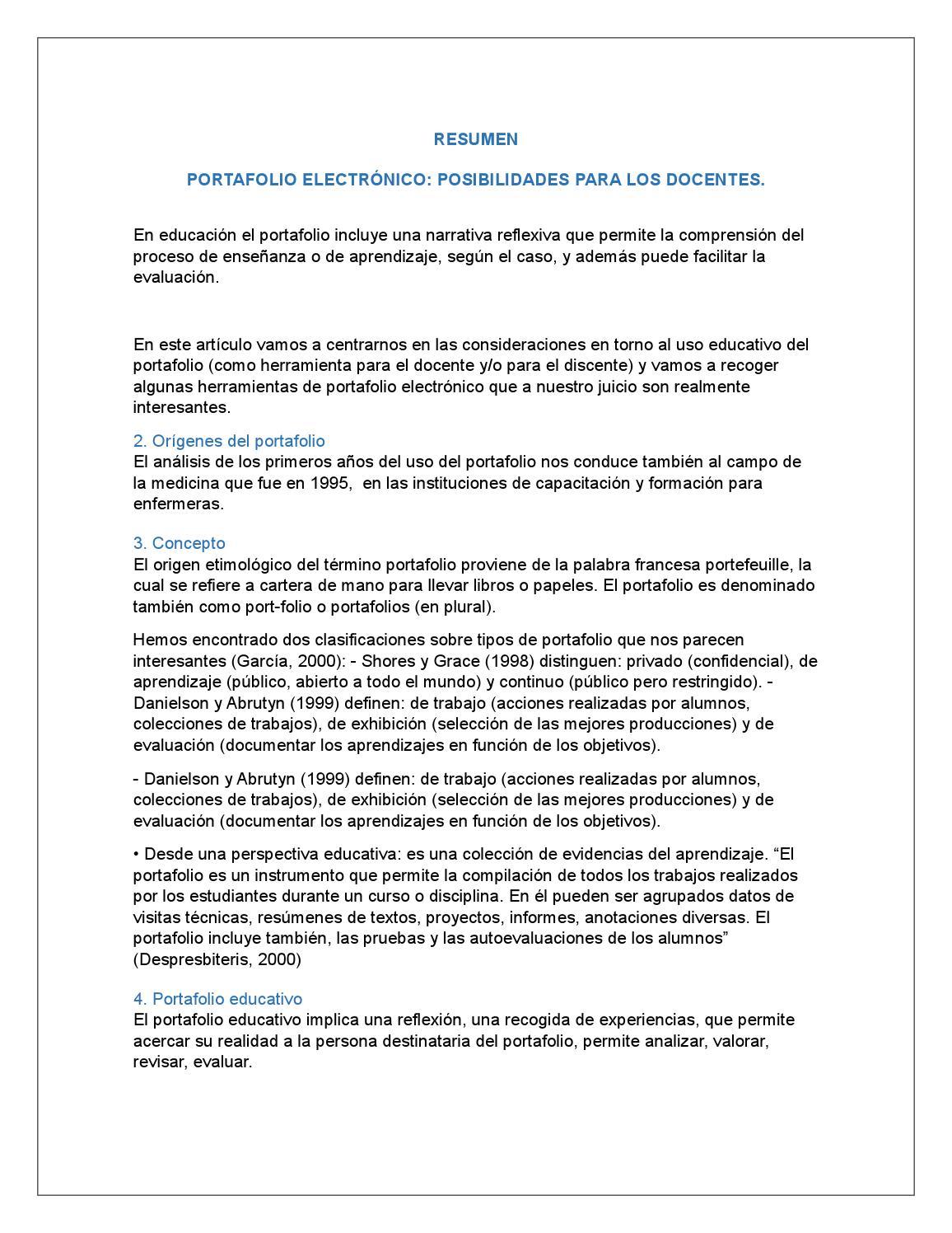 Resumen de portafolio by Andrea