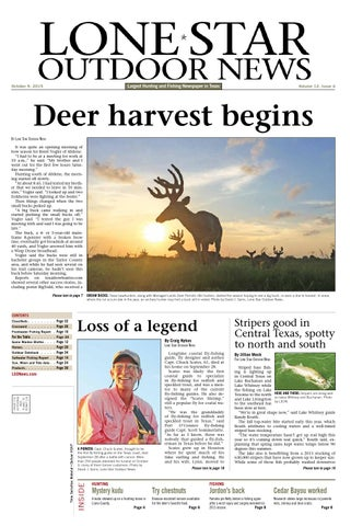 October 09, 2015 - Lone Star Outdoor News - Fishing & Hunting