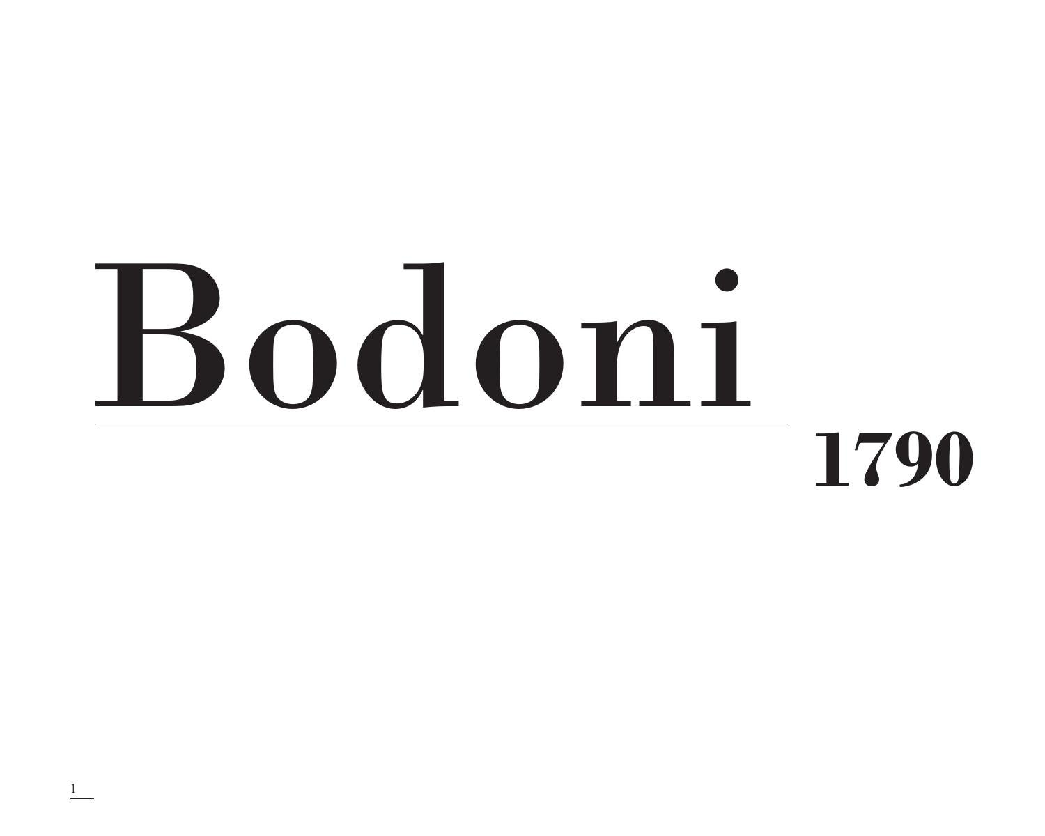 Bodoni Typeface Book By Rachel Healey