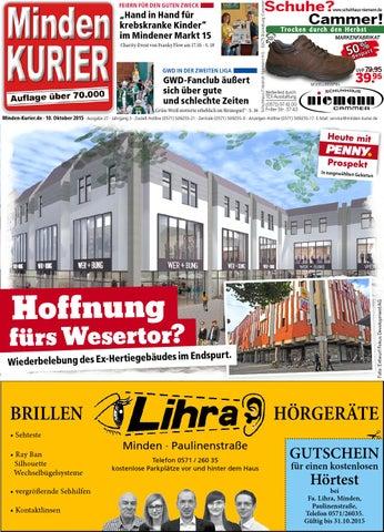 10. Oktober 2015 Hoffnung fürs Wesertor? by Minden Kurier - issuu