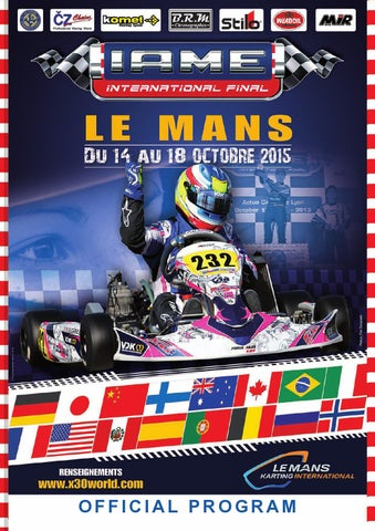 programme final x30 le mans 2015 by kart mag issuu. Black Bedroom Furniture Sets. Home Design Ideas