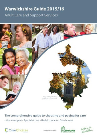 Warwickshire Adult Care And Support Services Guide 2015 16