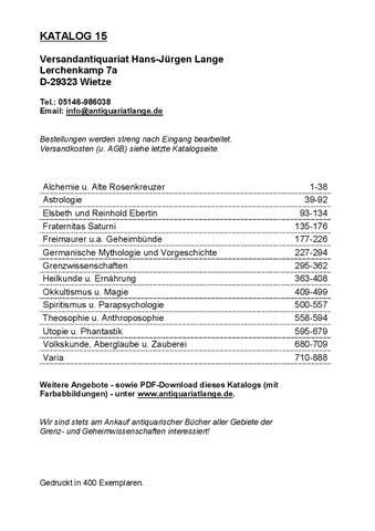 Katalog 15 Versandantiquariat Hans Jurgen Lange By Versandantiquariat Hans Jurgen Lange Issuu