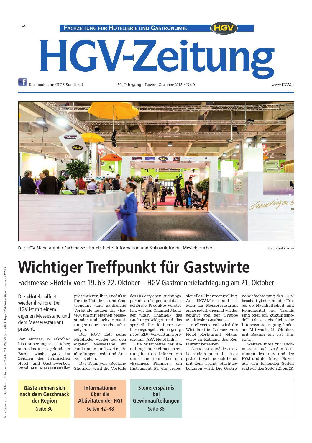 Oktober-Ausgabe der HGV-Zeitung by HGV-Service Genossenschaft - issuu