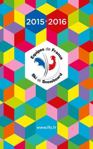 Plaquette des Équipes de france de ski et de Snowboard 2015