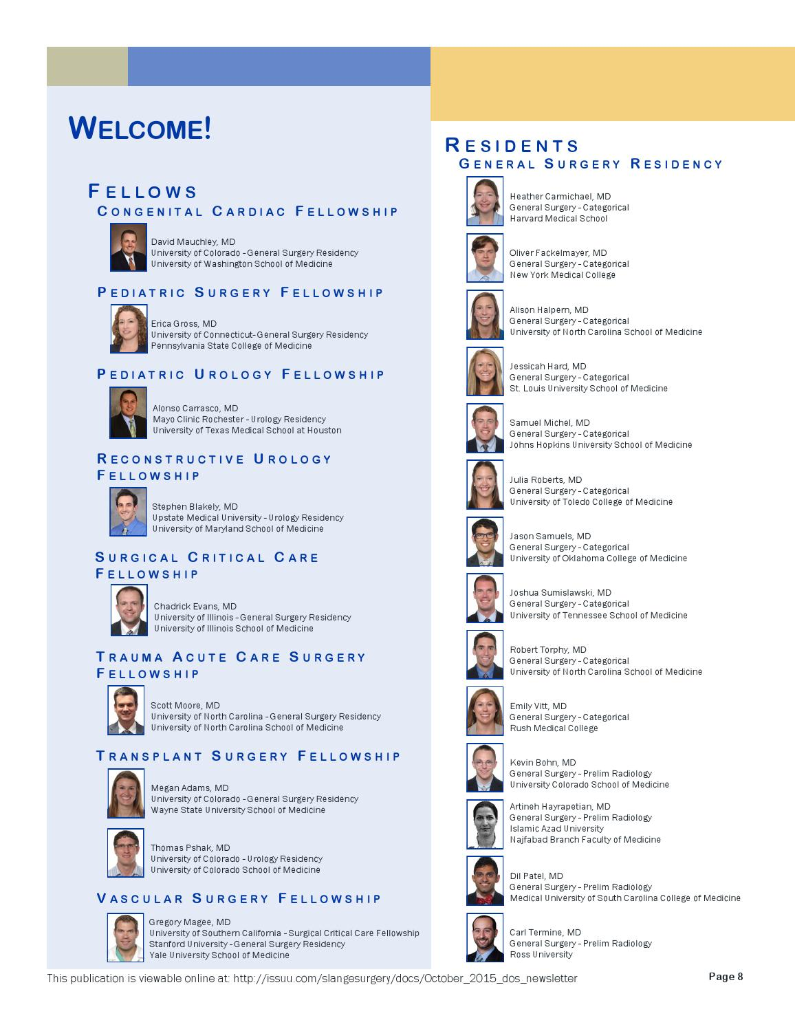 October 2015 Dept  of Surgery Newsletter by Shelly Lange - issuu