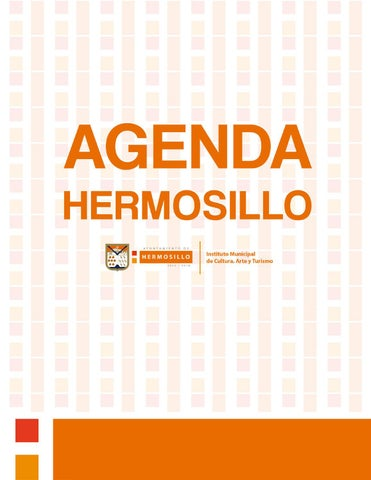 """Cover of """"Agenda Hermosillo del 9 al 16 de octubre"""""""