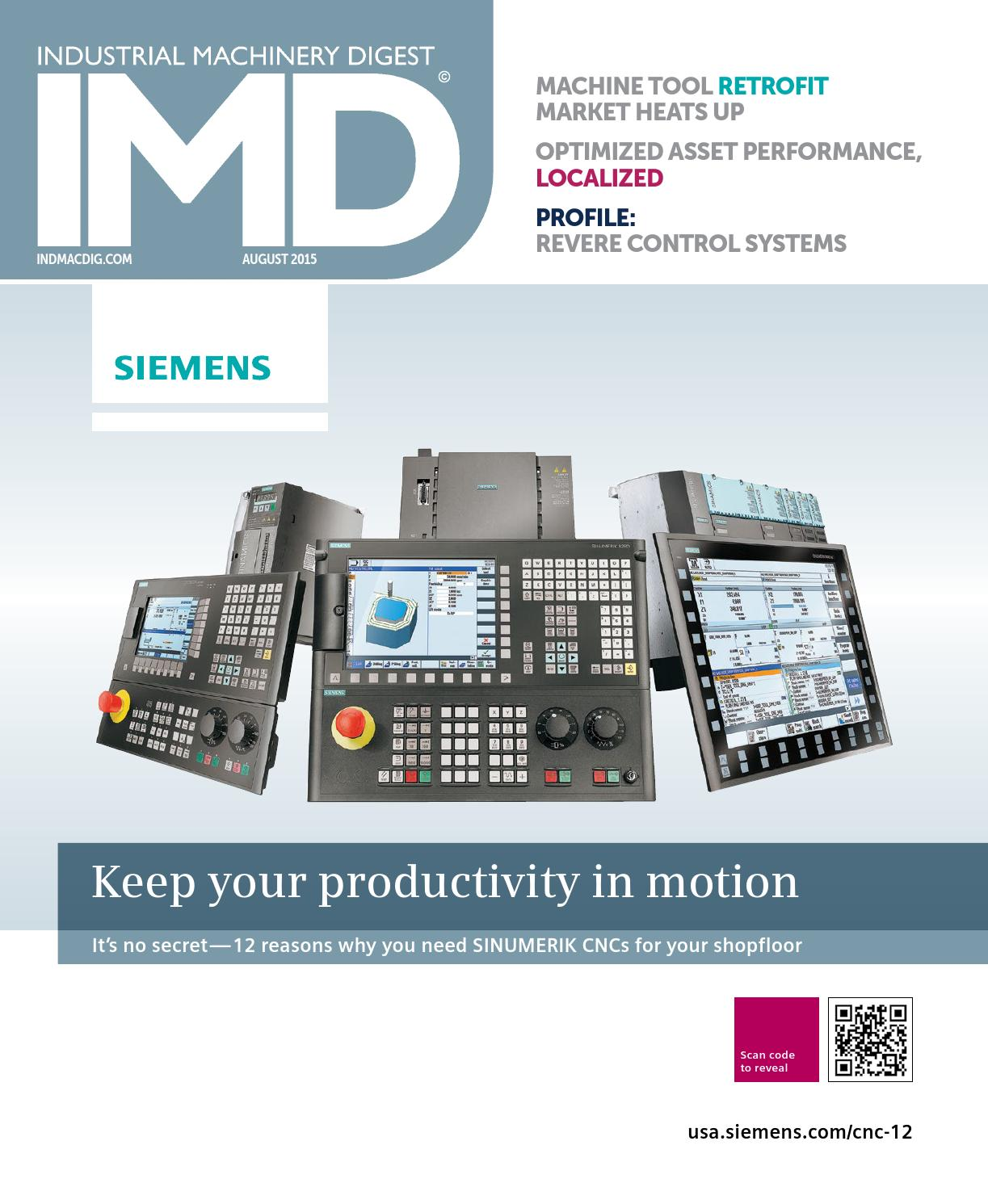 IMD August 2015 by Industrial Machinery Digest | IMD by Source 360