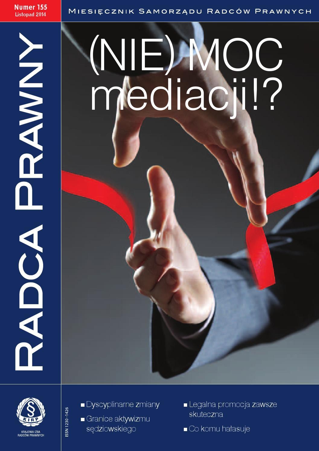 Radca Prawny Nr 155 Listopad 2014 By Radca Prawny Dwumiesięcznik