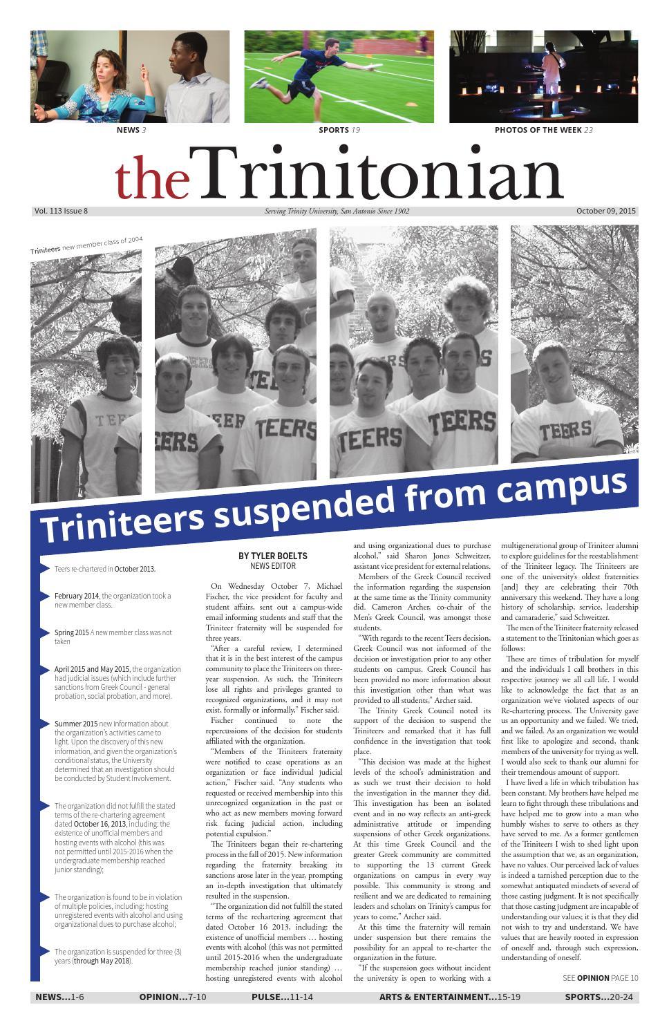 10.09.15 by Trinitonian - issuu