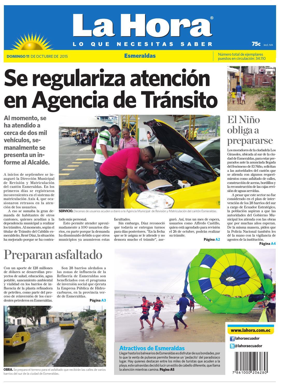 2a1431ba04c7e Esmeraldas 11 de octubre 2015 by Diario La Hora Ecuador - issuu