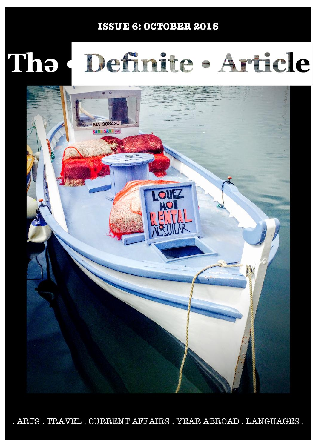 The Definite Article Issue 6: October 2015 by The Definite
