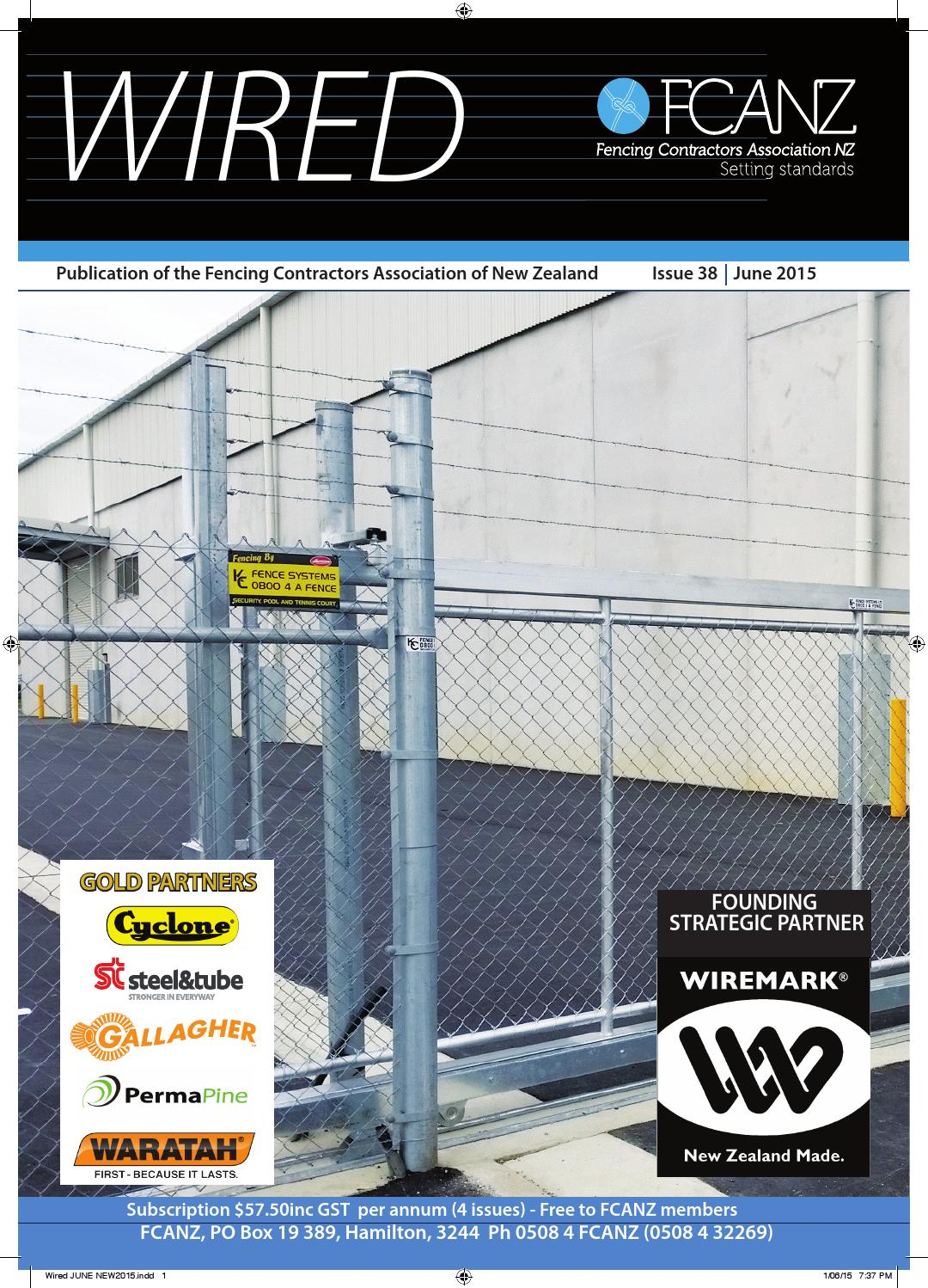 Wired June 2015 by Fencing Contractors Association New
