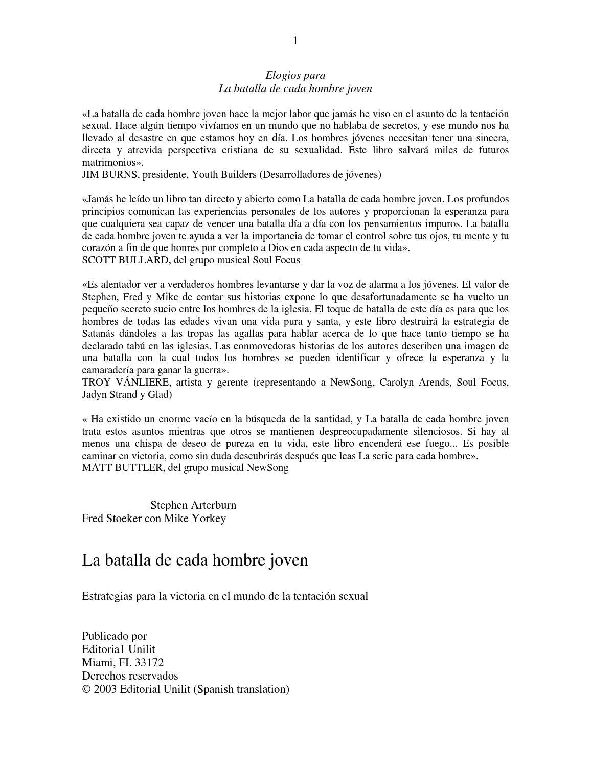 Nos Masturvamos En El Sofa Porno Casero la batalla de cada hombre joven pdfgonzalez nathalie - issuu