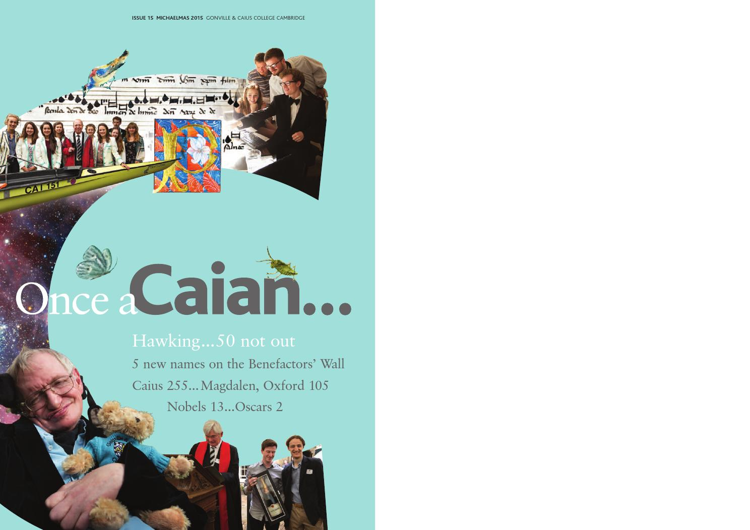 Once a Caian Issue 15 by Gonville & Caius College - issuu