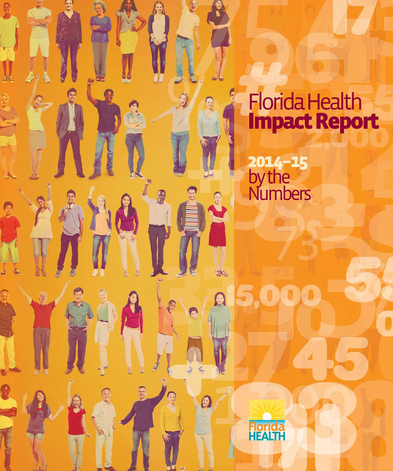 florida health impact report 2014 2015 by florida department of
