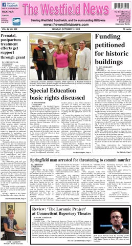 From Fcsn E Newsline Volume 35 Number 2 >> Monday October 12 2015 By The Westfield News Issuu
