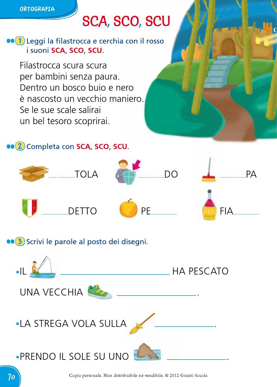 Il mio superquaderno 1 italiano by amelie issuu for Parole con sco scu