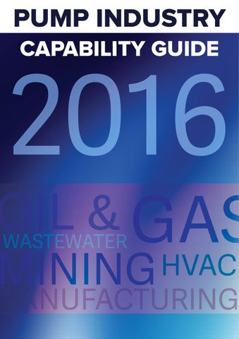 Pump Industry Capability Guide 2016 by Monkey Media - issuu