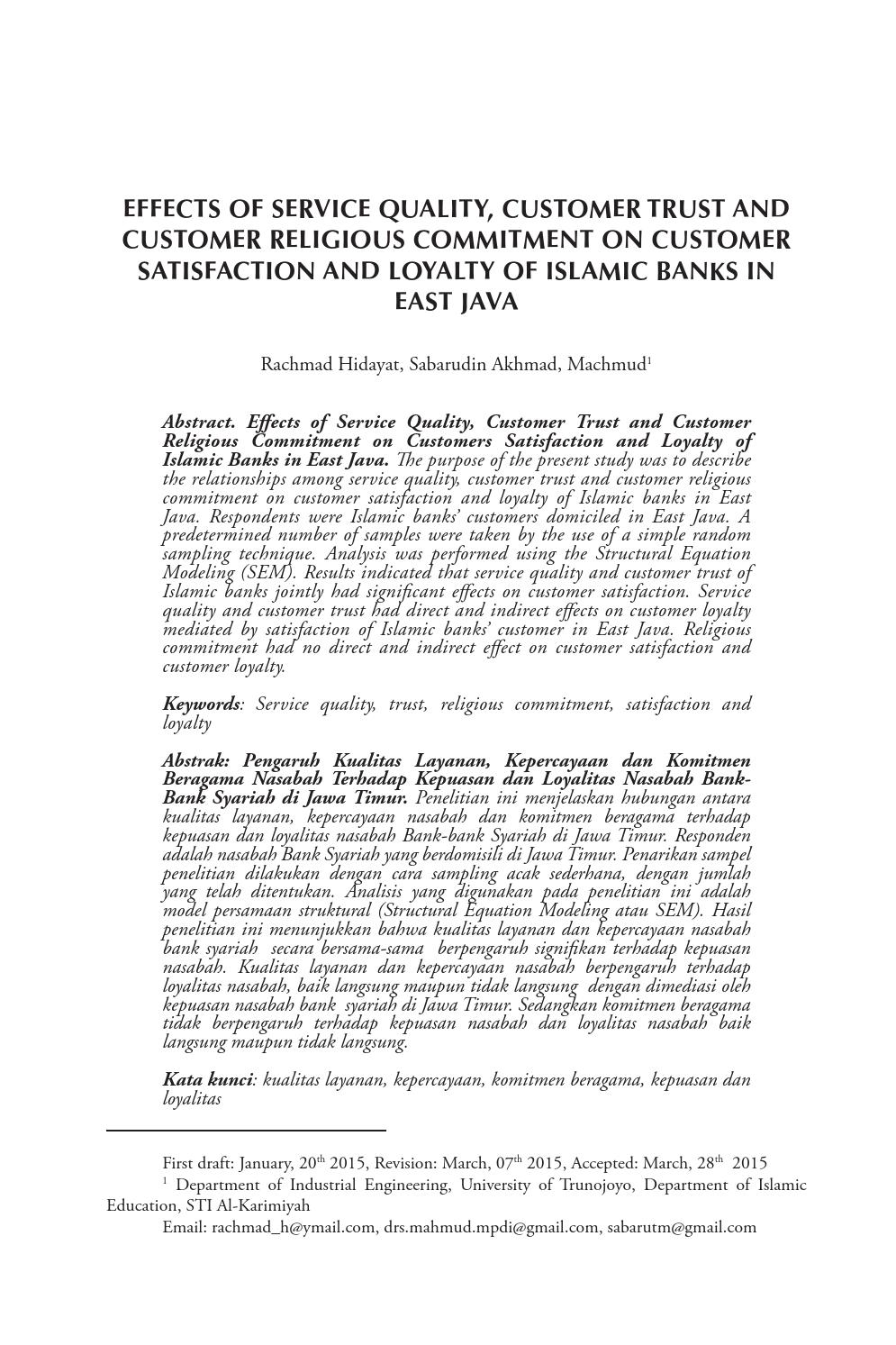 Effects of service quality customer trust and customer religious effects of service quality customer trust and customer religious commitment on customer by al iqtishad issuu thecheapjerseys Images