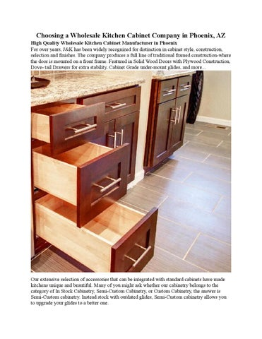 Choosing A Wholesale Kitchen Cabinet Company In Phoenix By Edwardmugits Issuu