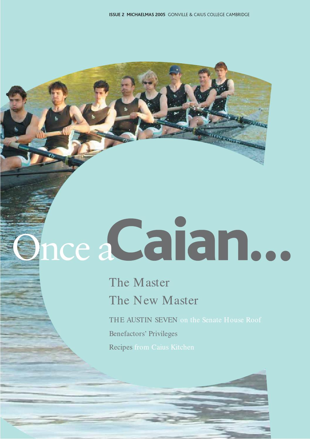 Once a caian issue 2 by gonville caius college issuu pooptronica