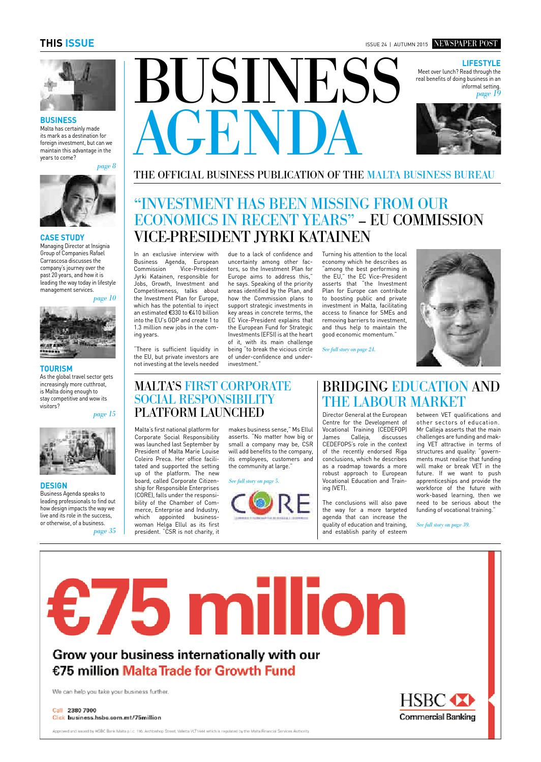 Business Agenda by Content House Group - Issuu