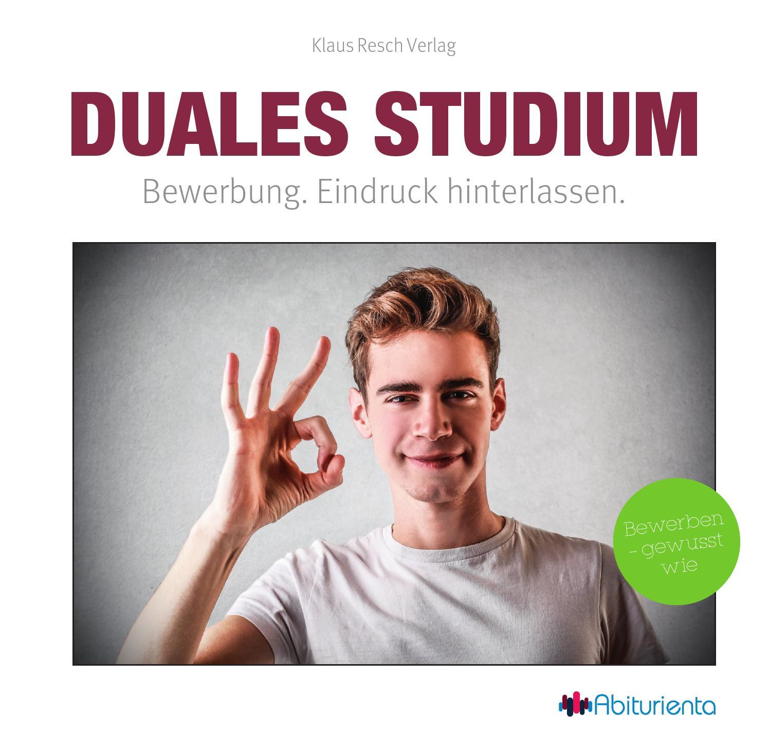 Duales Studium - Bewerbung. Eindruck hinterlassen. by Abiturienta - issuu