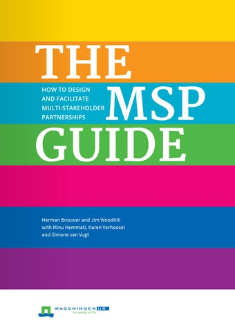 The Msp Guide Full Version By Cdi Wageningen Ur Issuu