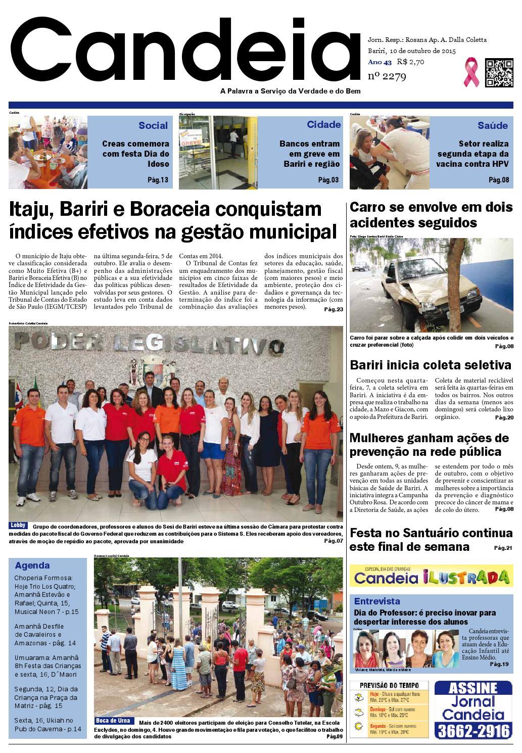 35ccfa24035 Jornal candeia 10 10 2015 by Jornal Candeia - issuu
