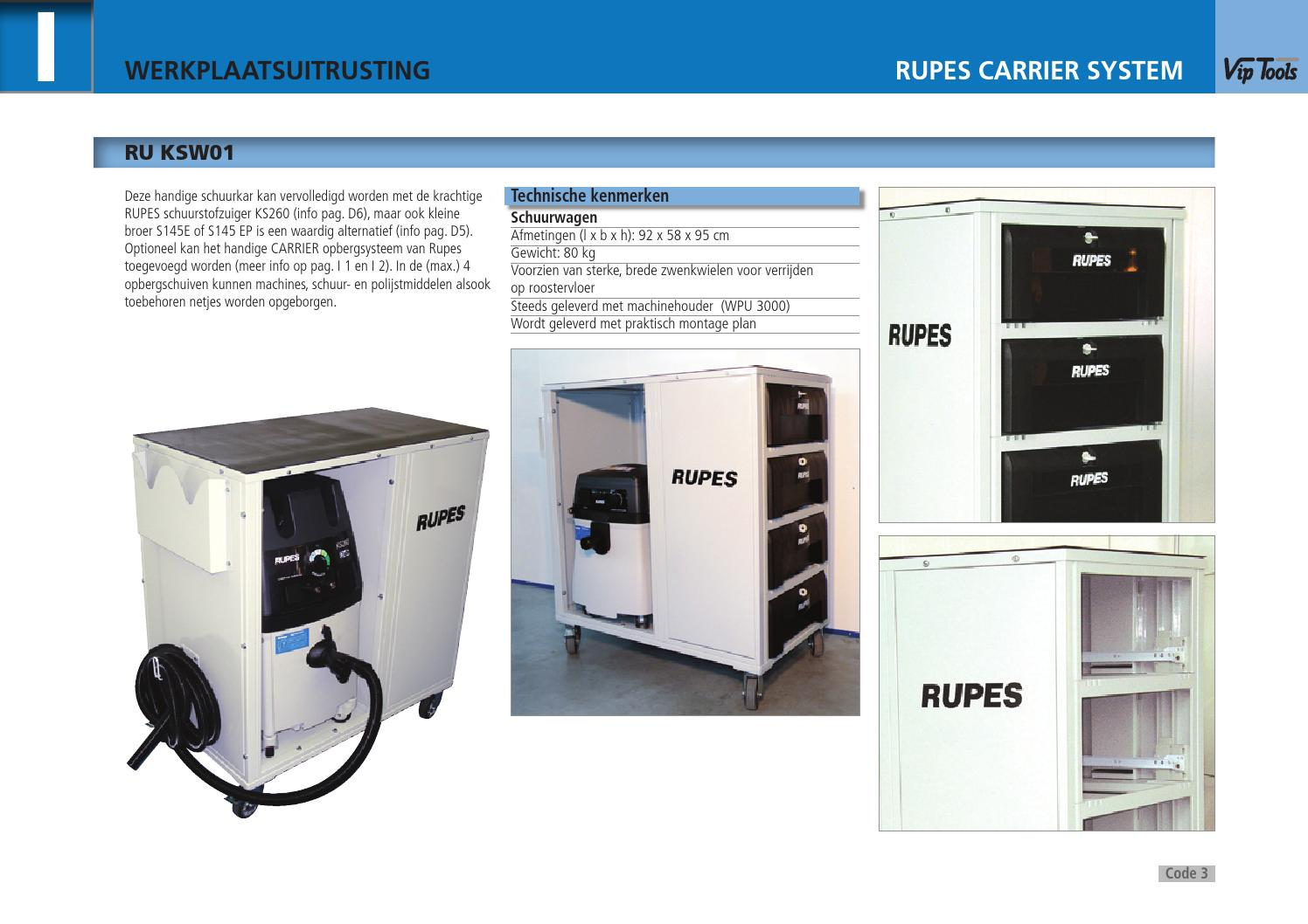 Rupes werkplaatsuitrusting by de maesschalck h nv issuu for Opbergsysteem schuur