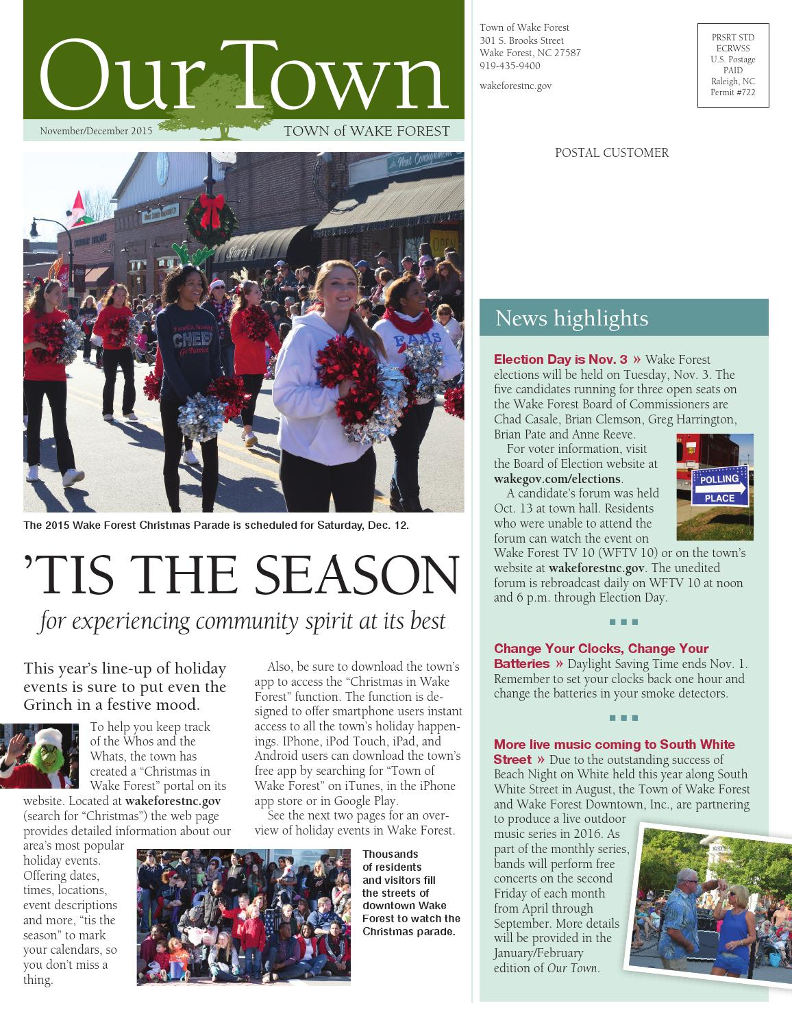 Our Town: Nov/Dec 2015 by Town of Wake Forest - issuu