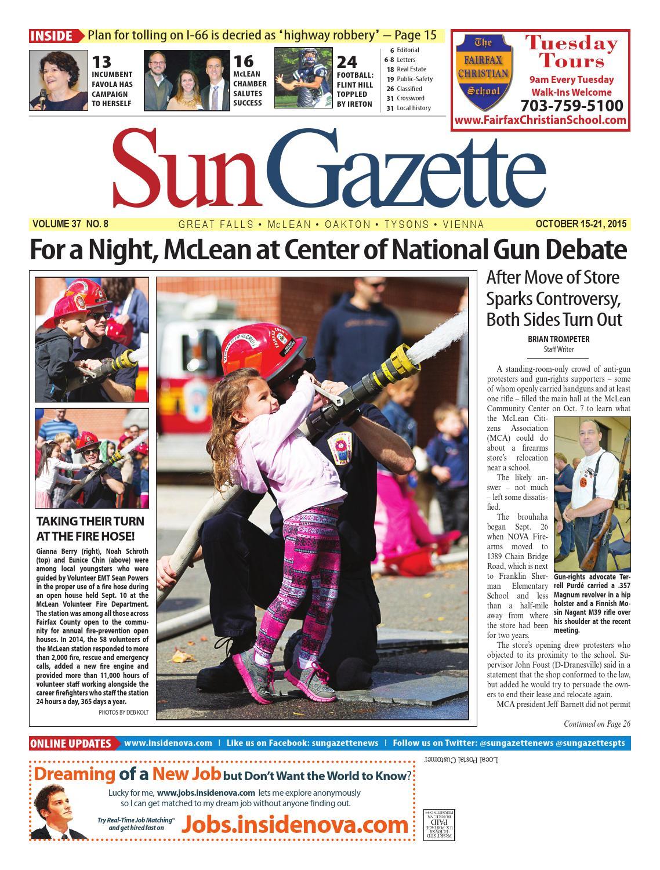 Sun Gazette Fairfax October 15, 2015 by Northern Virginia Media Services -  issuu