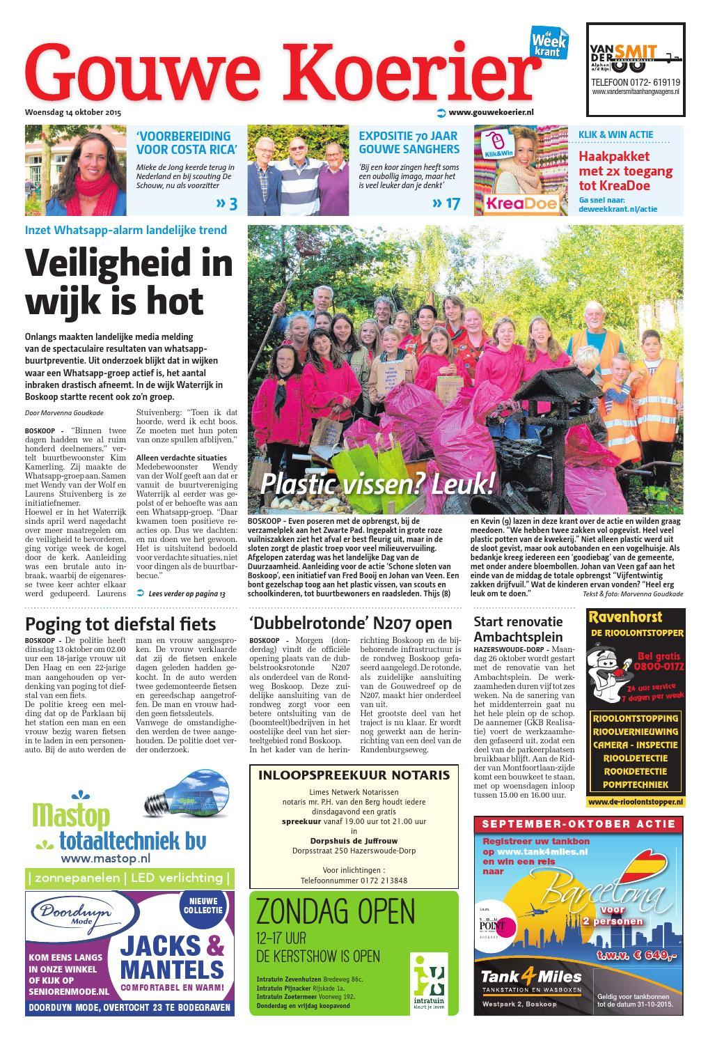 8557a824d24873 Gouwe Koerier week42 by Wegener - issuu