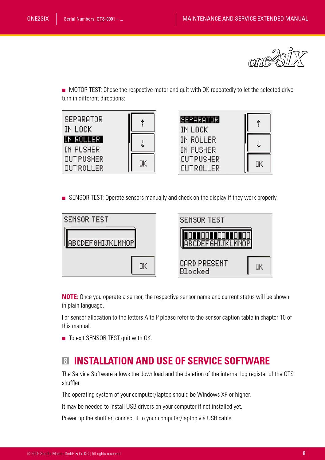 One2six ots service maintenance manual extended 02 2009 by Henry