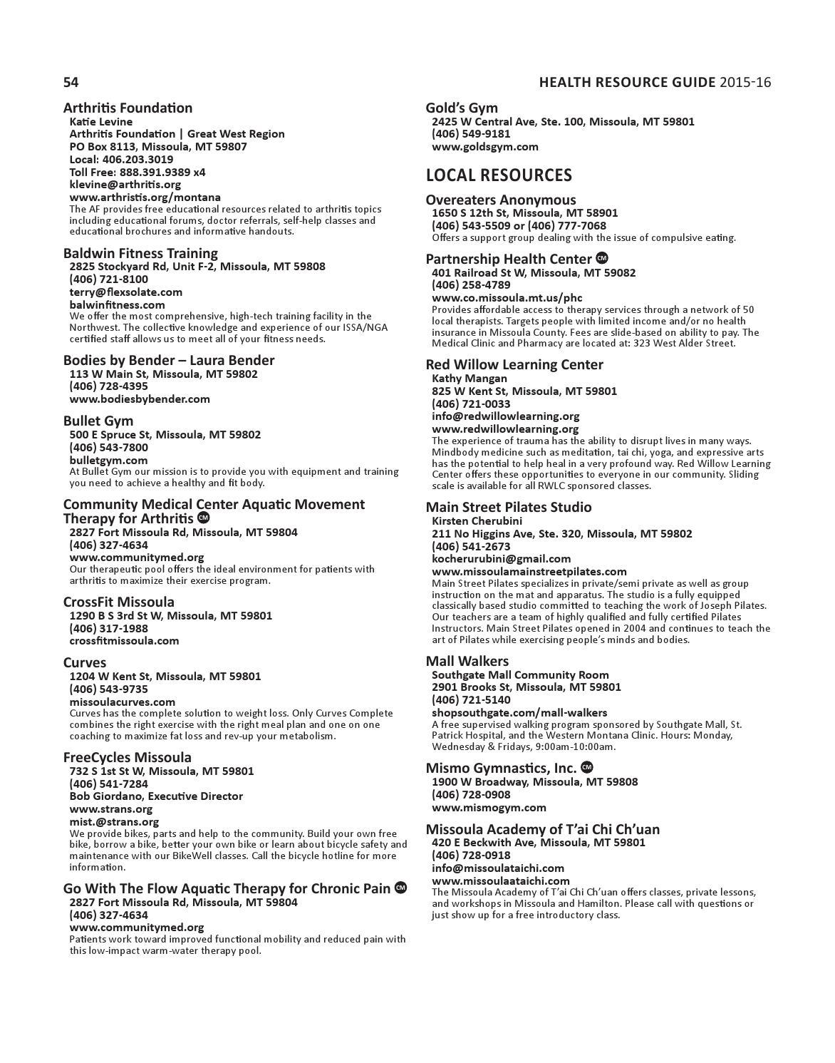 Health Resource Guide 2015 by Missoulian - issuu