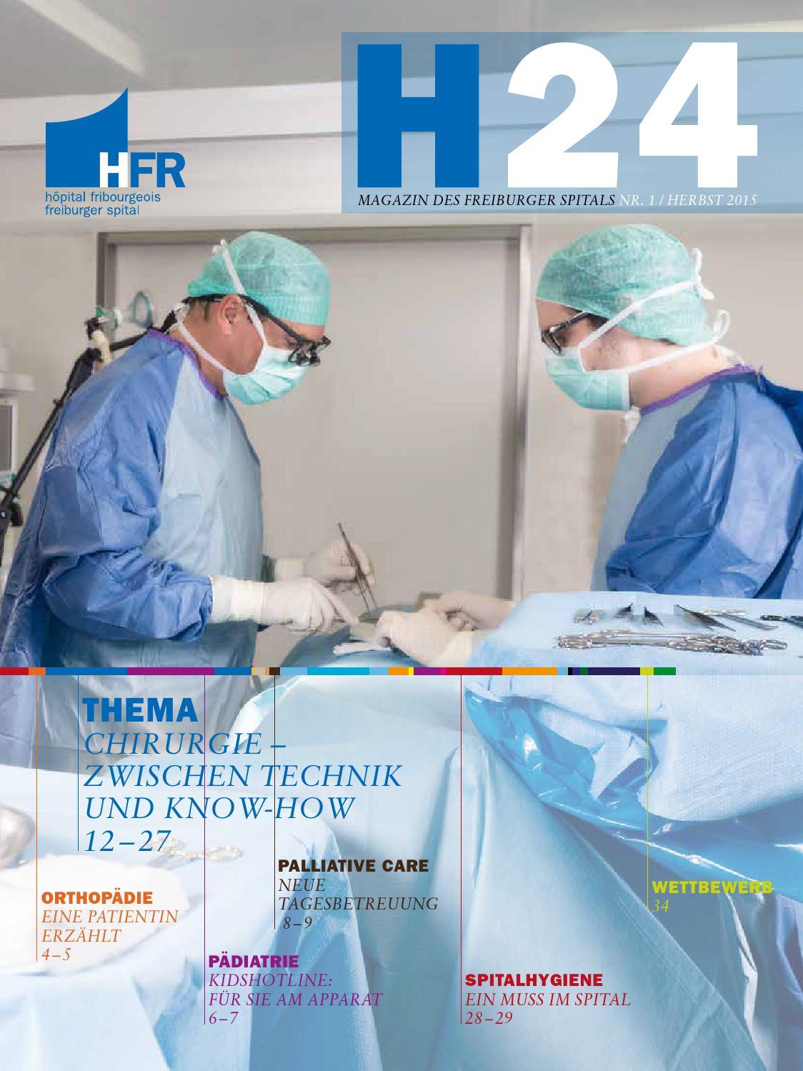 H24 – Magazin des freiburger spitals (HFR) – Nr. 1 (Herbst 2015 ...