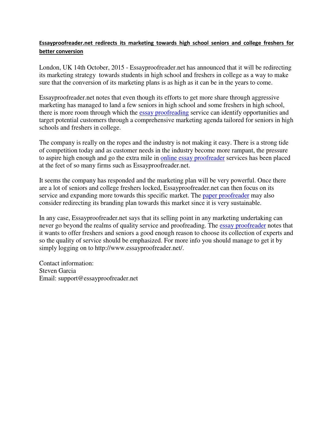Dissertation proofreading service birmingham