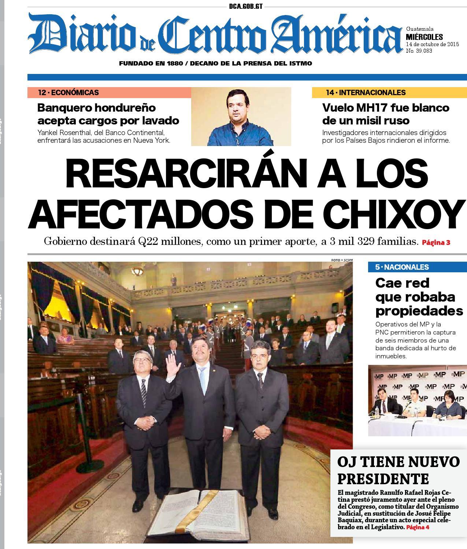 Edicion dca miercoles 14102015 by Diario de Centro América Guatemala ...