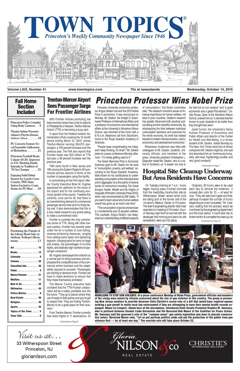 Town Topics Newspaper October 14, 2015 by Witherspoon Media Group - issuu