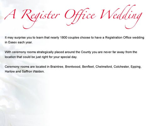 A Register Office Wedding It May Surprise You To Learn That Nearly 1800 S Choose Have Registration In Es Each Year