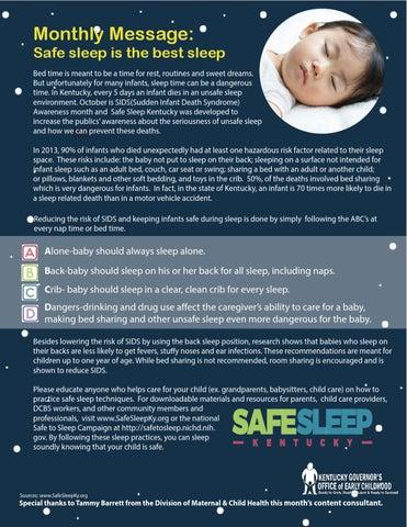 Safe Sleep Is The Best Sleep By Kidsnow Issuu